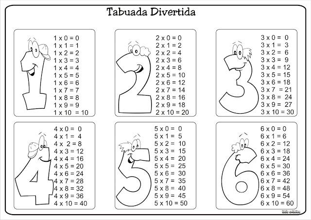 Tabuada Divertida  Multiplicação 1 a 9
