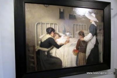 Cuadro La Visita de una Madre, Enrique Paternina