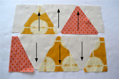 how to sew sixty degree triangles