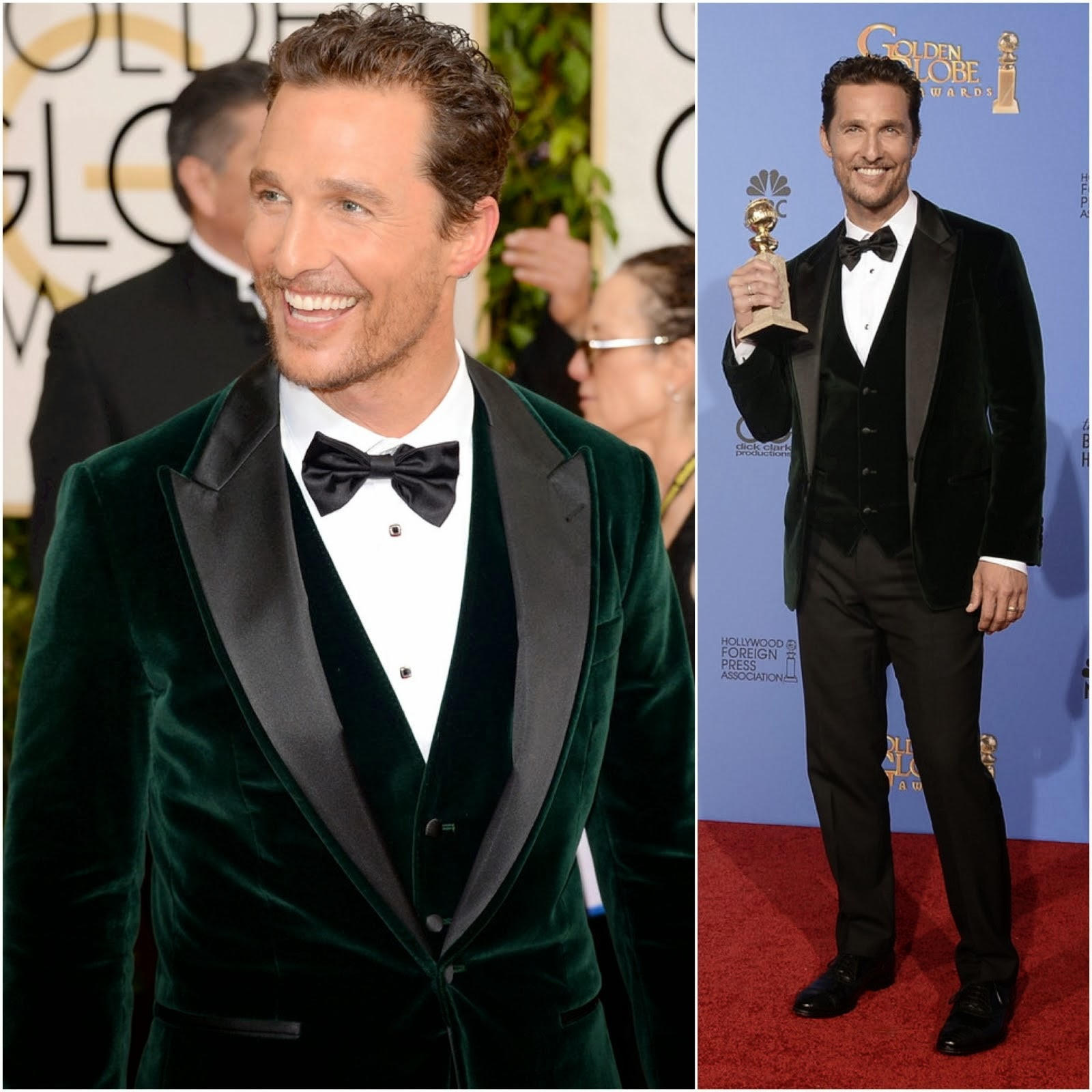 Matthew McConaughey in Dolce & Gabbana - 71st Annual Golden Globe Awards