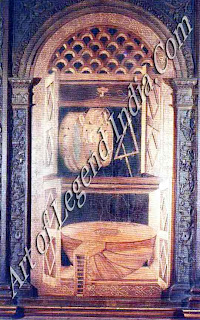 Musical inspiration, Until the time of the Carracci, Bologna was much more famous for its musical life than for its tradition in painting. This beautiful intarsia (inlaid wood) still-life is in the magnificent church of Sail Pet ronio, which was one of the most important centres of the cities varied and extensive musical activity.