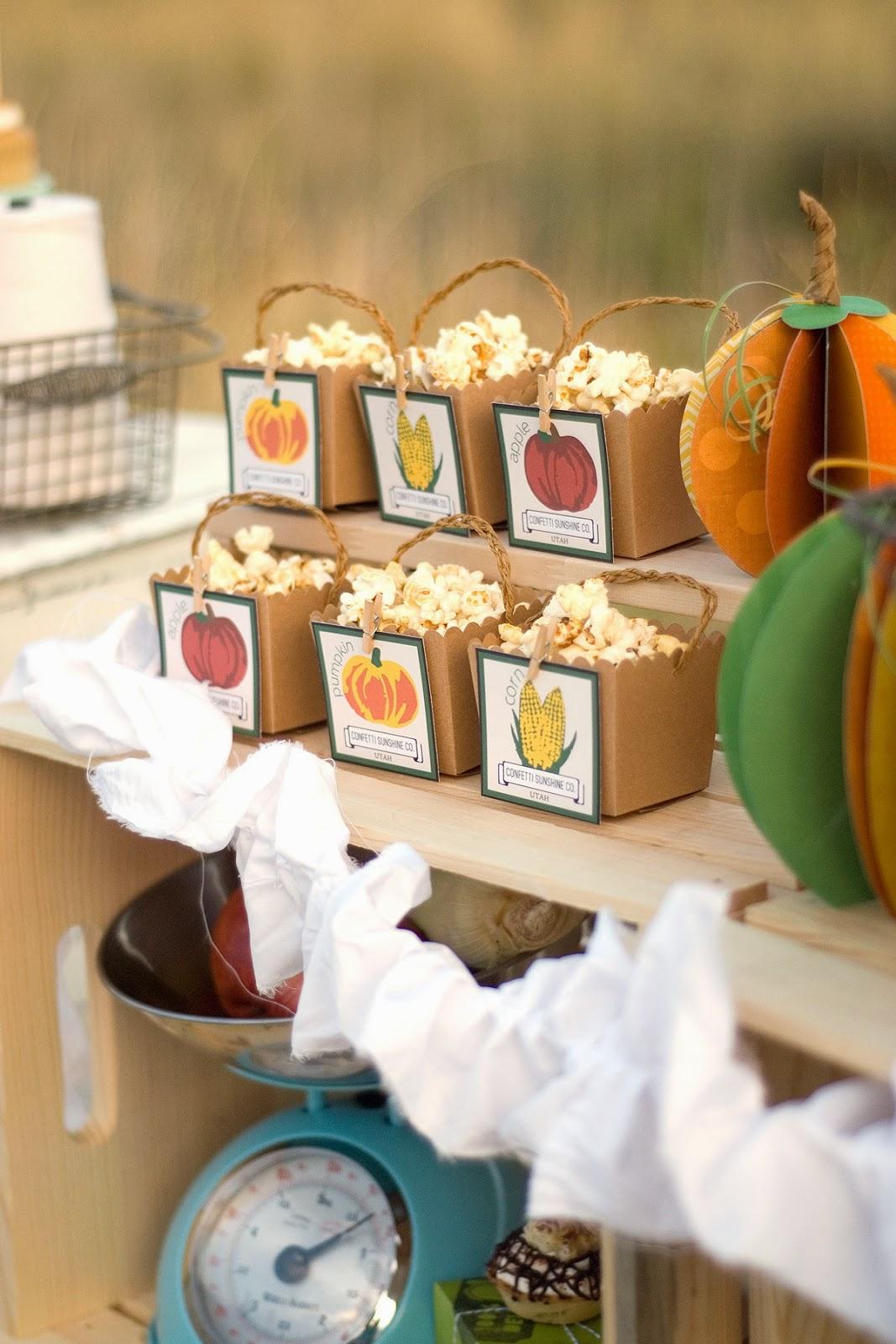 The Party Hop: Autumn Market treat box labels