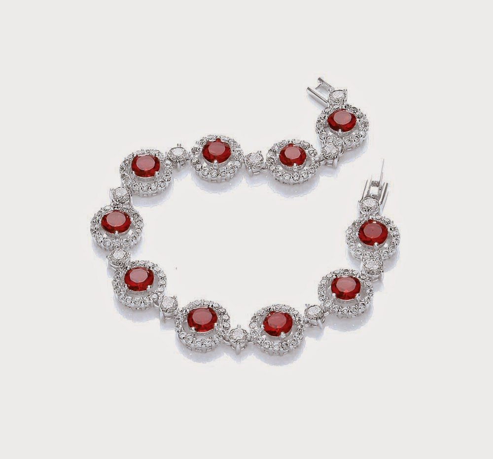 Attwood and Sawyer ruby-style windsor roulette bracelet