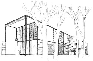 Line drawings gallery additionally 69290 together with Construction Drawings furthermore 362821313708760297 also Case Study No 8 Casa Eames Charles Ray. on drawing elevations from plans