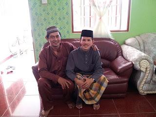 bersama abang ipar, suasana aidilfitri, salam aidilfitri