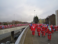 Image of Churchill Way during the Liverpool Santa Dash 2013
