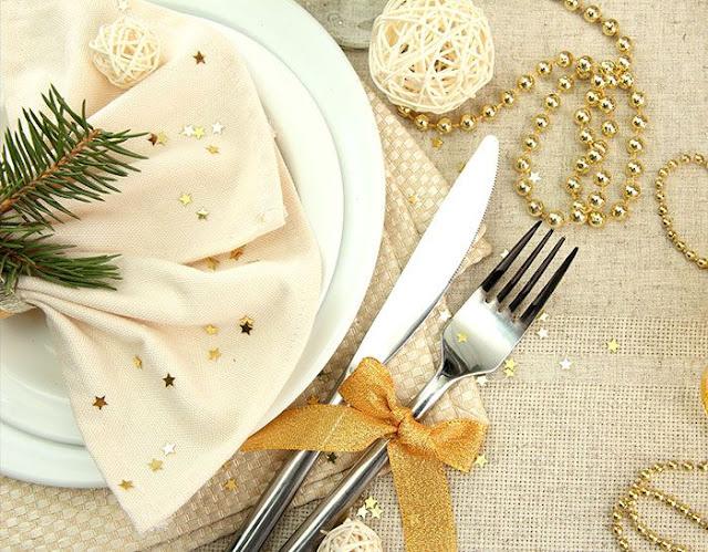 Ideia decoração réveillon Ano novo talheres
