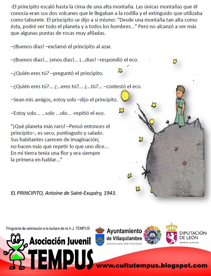 Lee EL PRINCIPITO