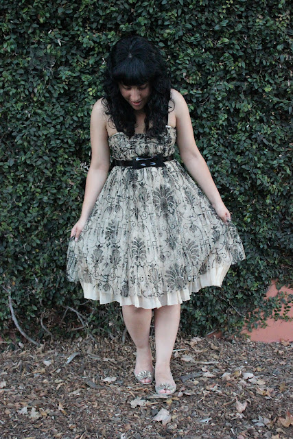 What to Wear with a Lace Overlay Dress
