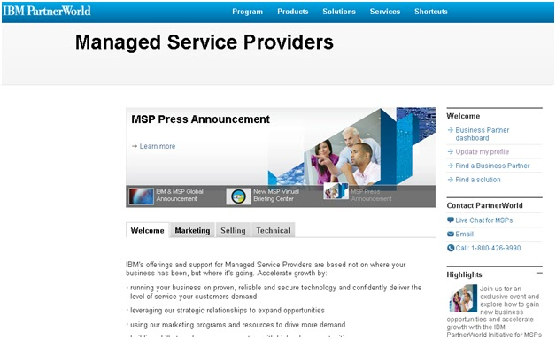 IBM Managed Service Provider PartnerWorld