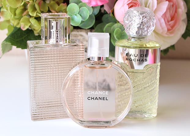 Burberry, Chanel y Eau de Rochas