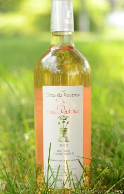chateau pradeaux rosé wine pairing
