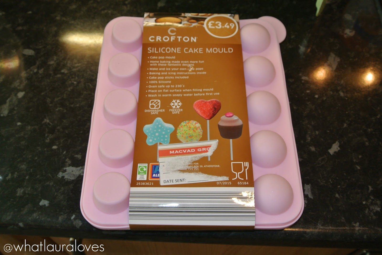 Home Baking with Aldi Weight Watchers Lemon Curd Cake Cake Pops