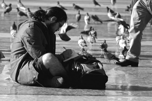 Escribiendo con palomas