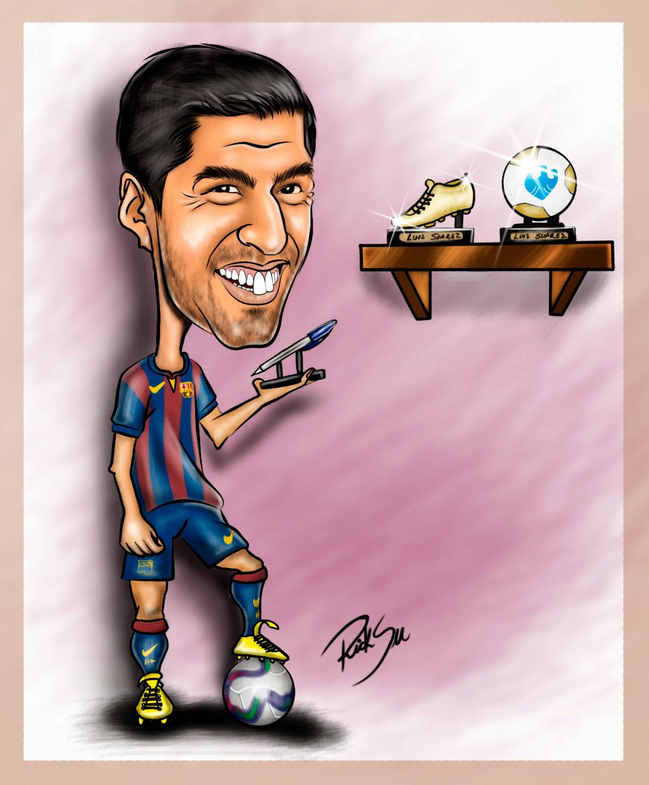 #barcelona , #caricaturadavidluiz , #desenhodavidluiz