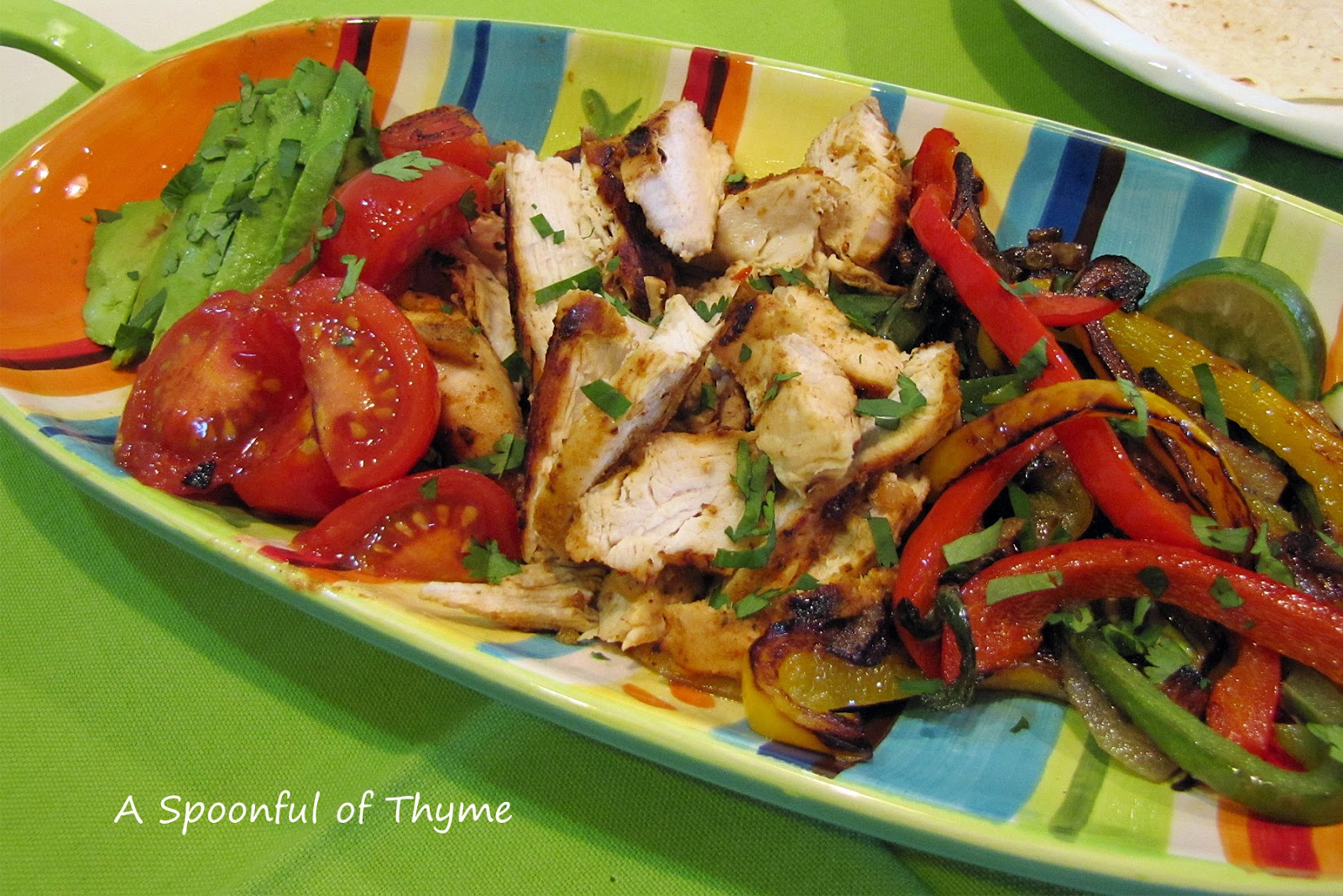 Chicken Fajitas for The Secret Recipe Club