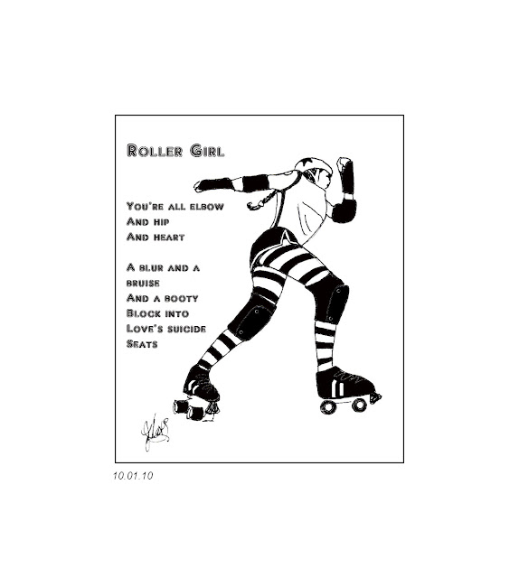 Roller Derby Flat Track Layout http://www.zombielogic.org/2012/01/roller-girl-tiny-drawing-poem.html