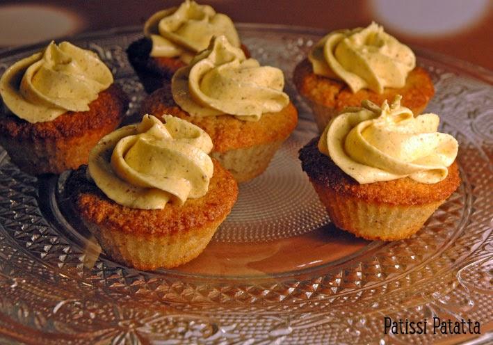 mini cupcakes aux noix, nuts cupcakes, recette de cupcakes aux noix,