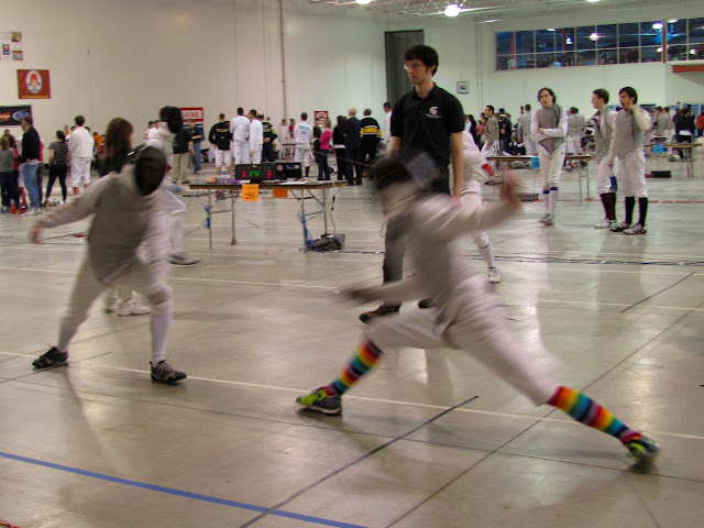 A fencing match