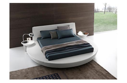 pr01 il letto lops capace di unire in armonia forme circolari e lineari