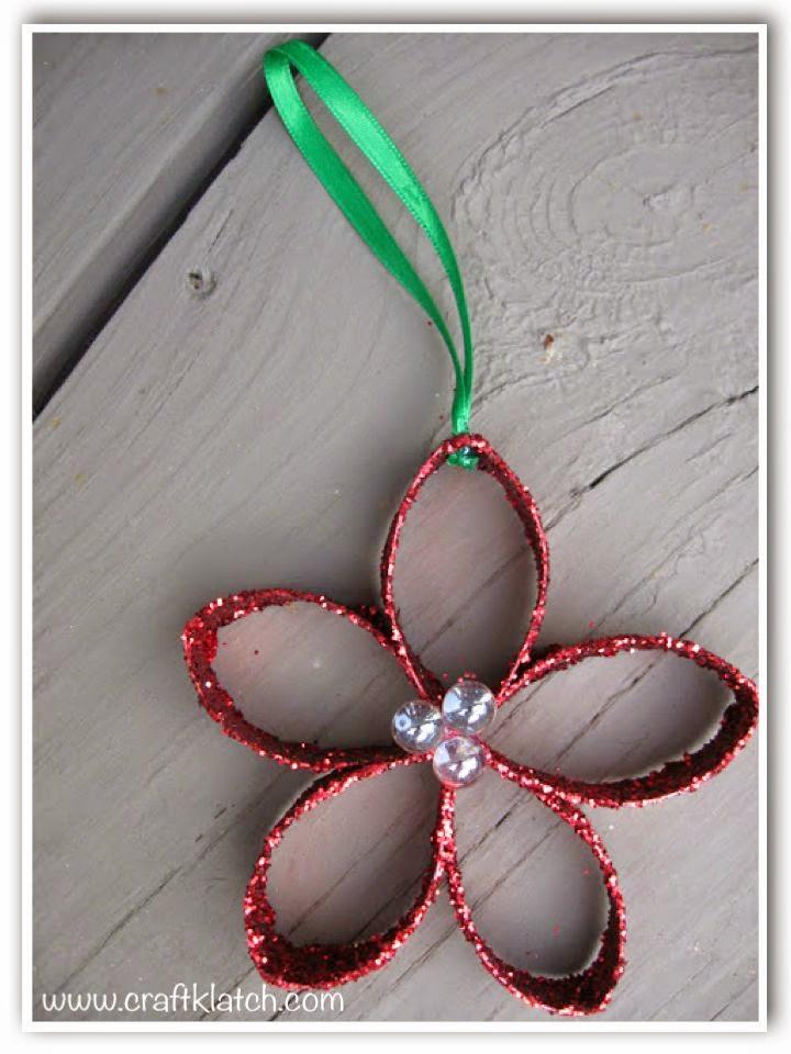 Craft Klatch Christmas Flower Ornament Recycling Craft Diy