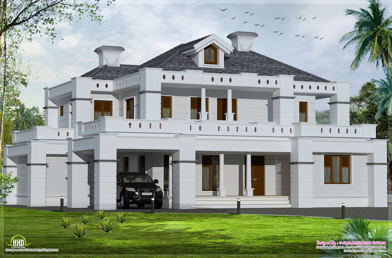 Contemporary house plans kerala quotes for Modern house quotes