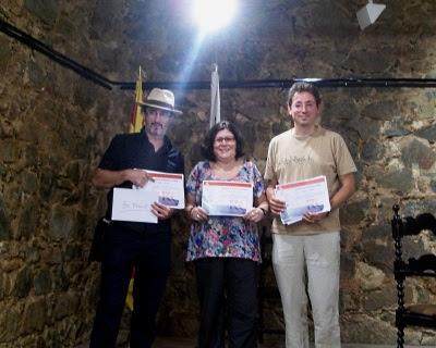 Ferran d'Armengol (recollint el premi en nom de Lluís Servé Galan) - Mercè Bagaria - Jordi Masó Rahola