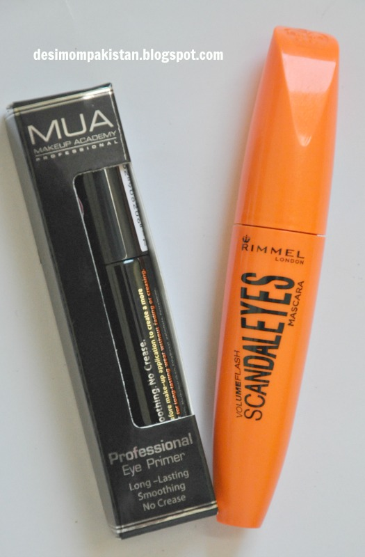 MUA EYE SHADOW PRIMER PKR RIMMEL SCANDAL EYES MASCARA PKR