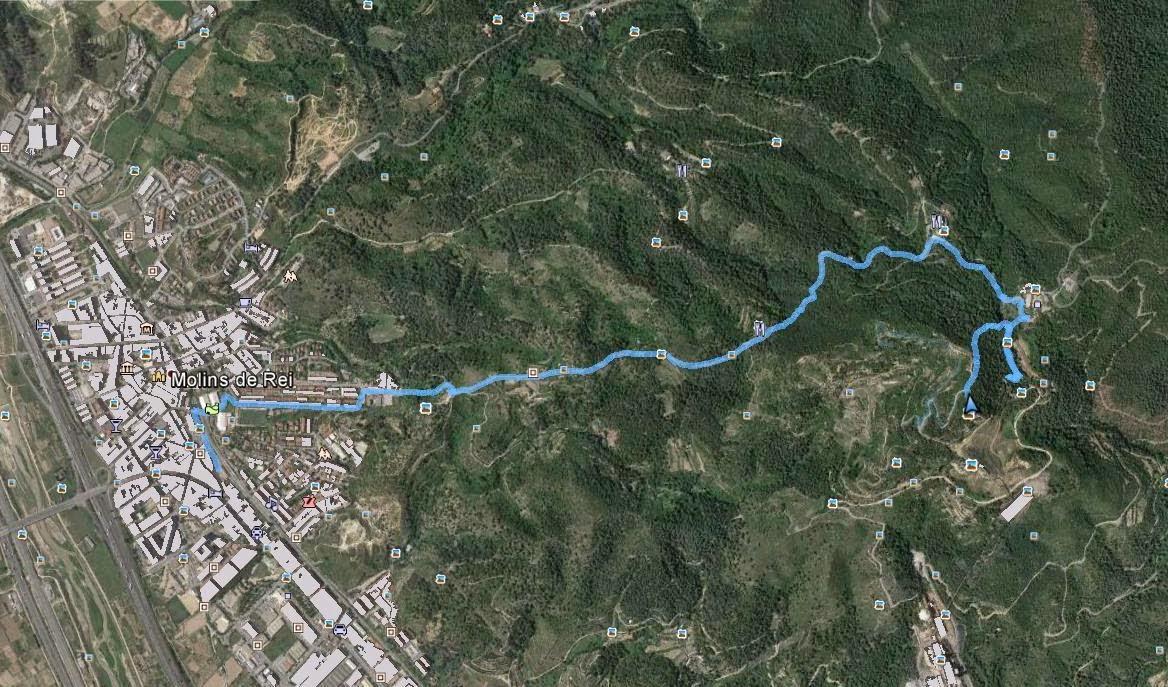 Recorregut: Molins de Rei-Puig d'Olorda