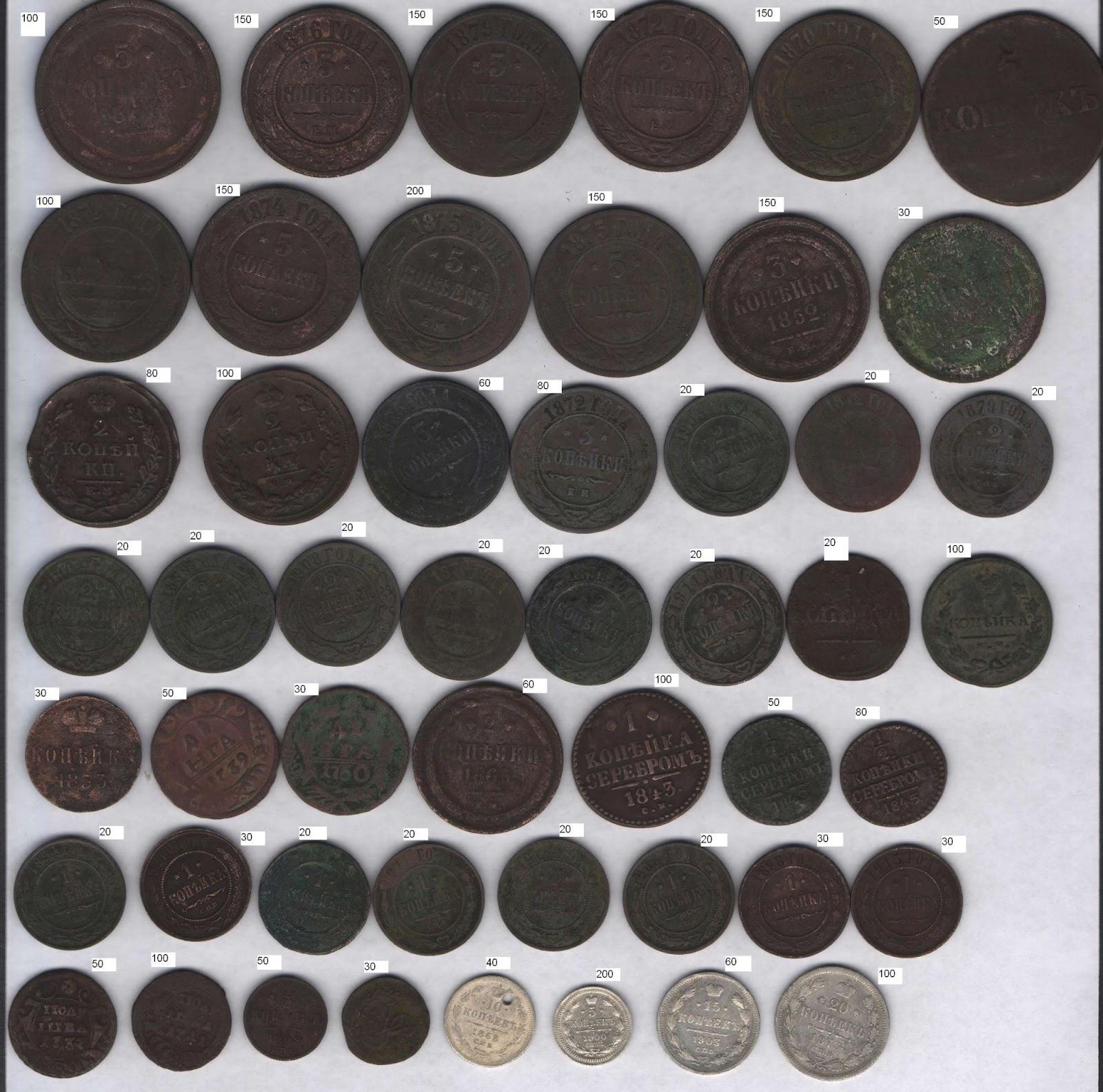 Каталоги царских монет с ценами ади 19