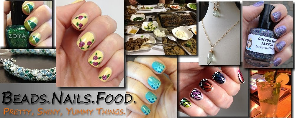 Beads. Nails. Food.