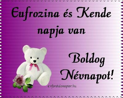 Eufrozina névnap - Szeptember 25