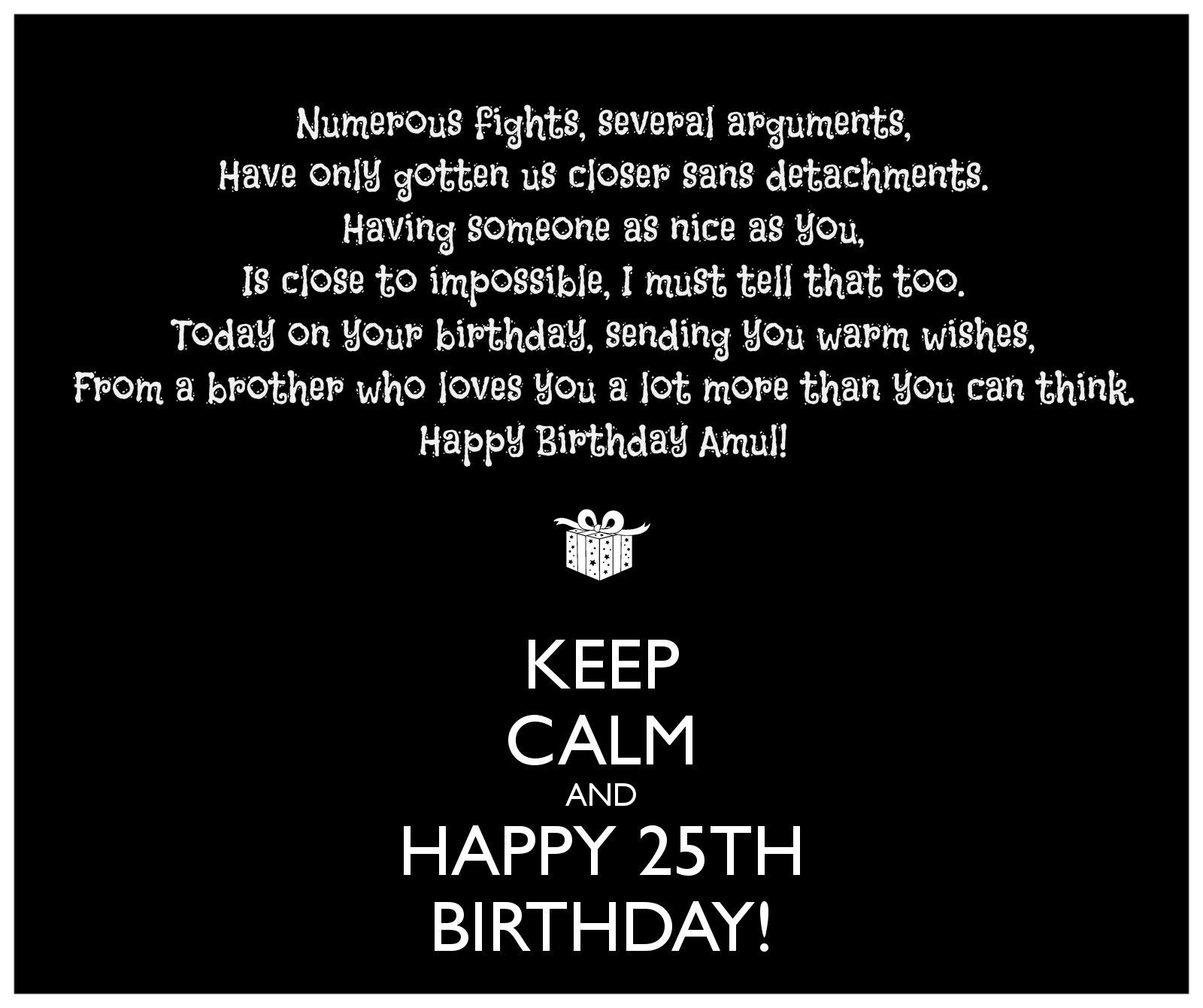 Happy 25th Birthday Quotes Funny. QuotesGram