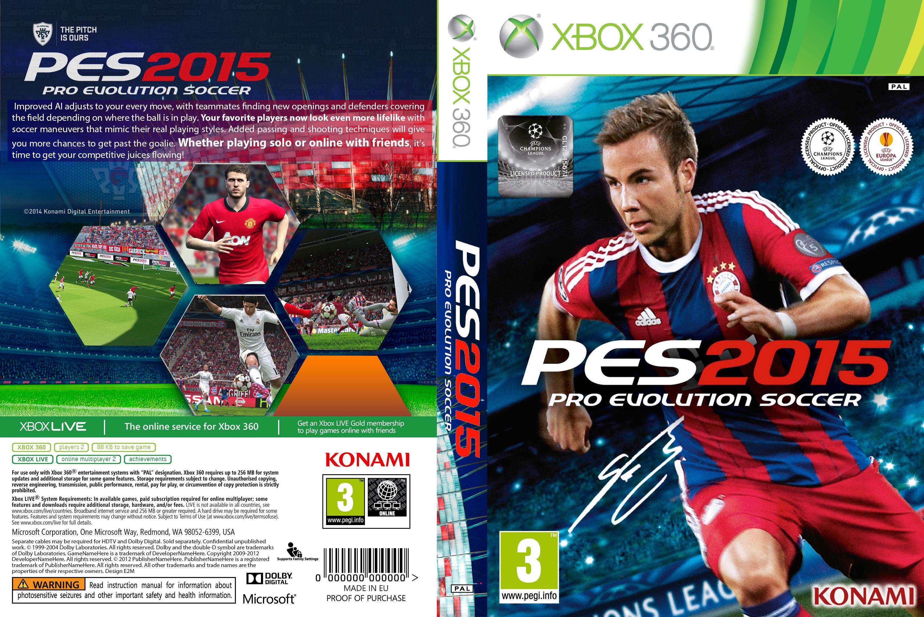 Capa PES 2015 Xbox 360