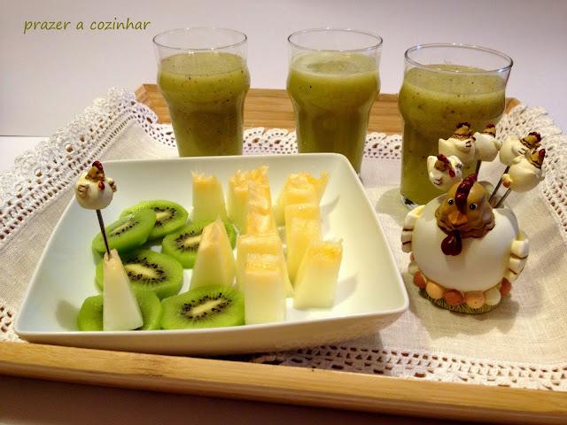 prazer a cozinhar - sumo de kiwi e melão