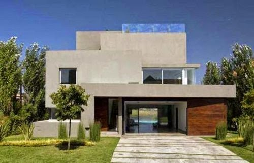 simple elegant front house home exterior view