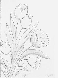 Desenhos Para Colori Flores  desenhar
