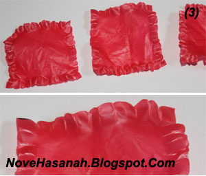 cara membuat bunga dari kantong plastik kresek bekas pakai yang sangat mudah 3