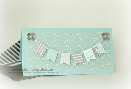 Happy Day Wedding Card with custom envelope by Gayle Wheeler | Stampingville