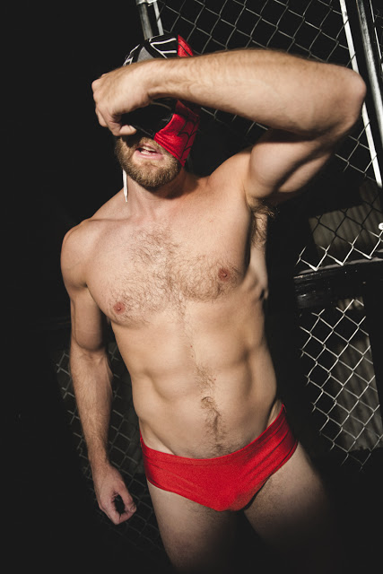 Colby Keller in wrestling uniform