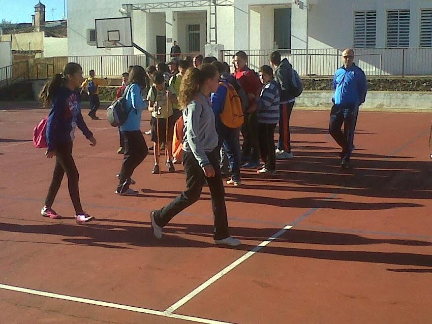 ENCUENTRO DE NORDIC WALKING ESCOLAR SANTA ANA LA REAL 2013