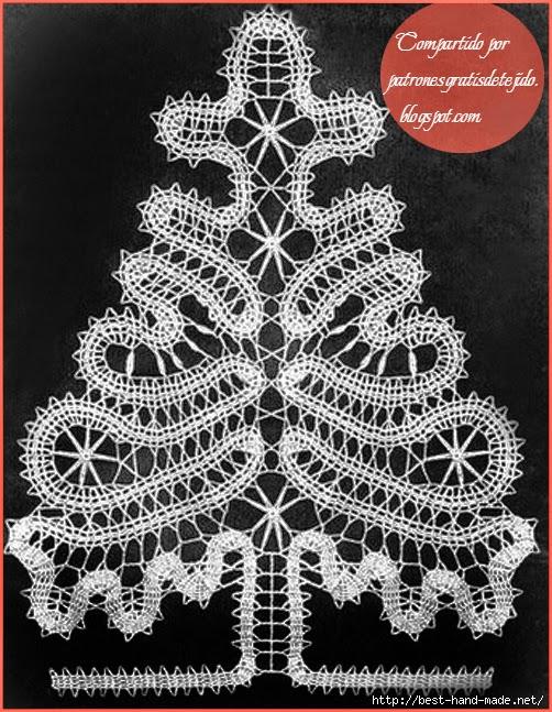 Pino de encaje de brujas | Crochet y Dos agujas - Patrones de tejido