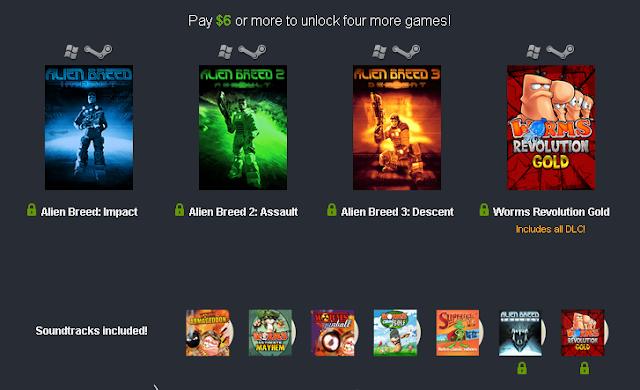 Si donas más de 6$ conseguiras tambien estos juegos.