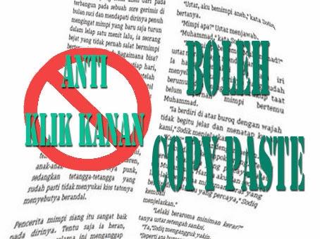 Tips Blogger Cara Buat Blog Bisa Di Copas Tidak Bisa Klik Kanan