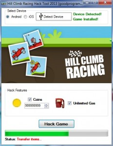 Hill Climb Racing Hack Cheat 2013 !!! [ANDROID][IOS]