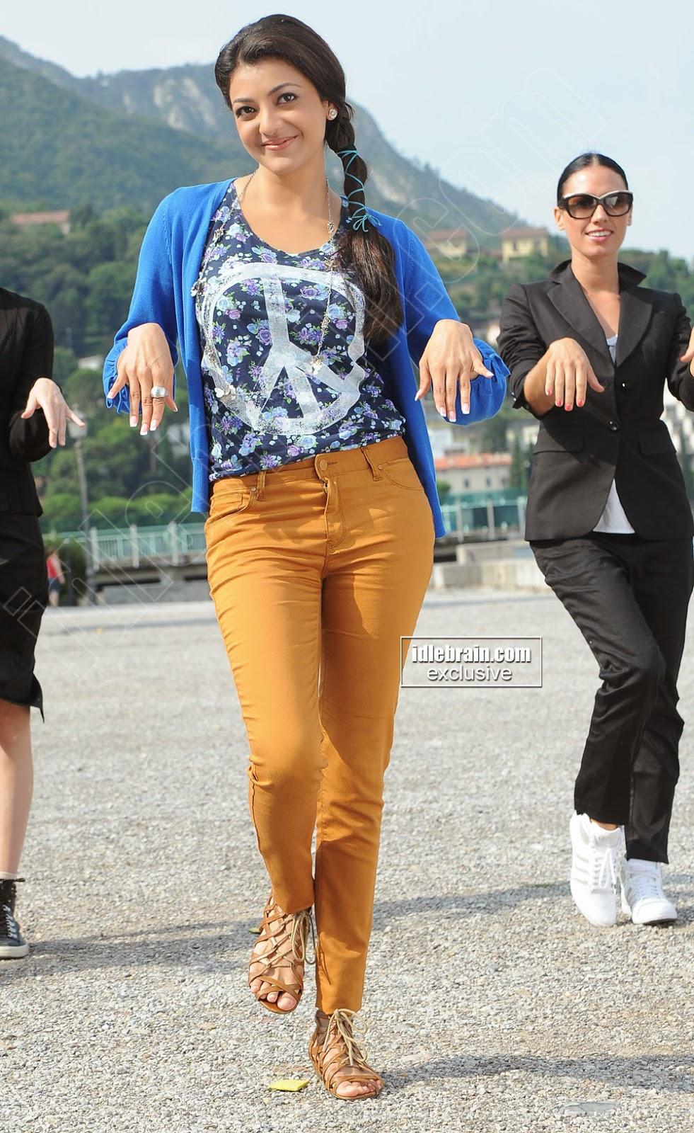 Kajal Agarwal yellow jeans