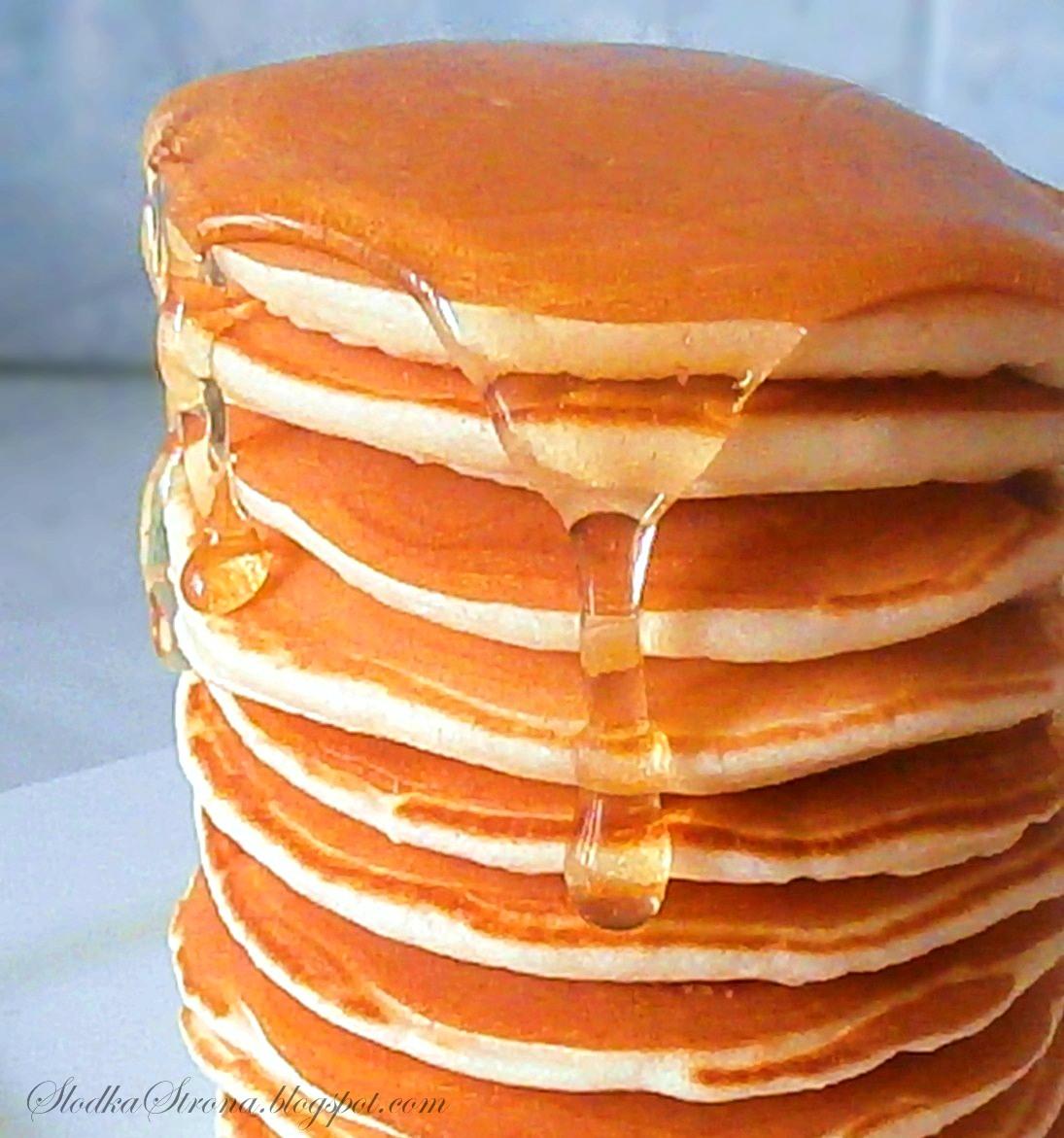 Oryginalne Amerykańskie Pancakes'y - Przepis - Słodka Strona