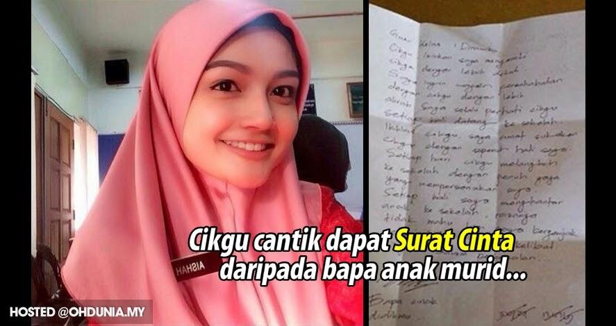 Cikgu cantik terima Surat Cinta daripada salah seorang bapa muridnya..
