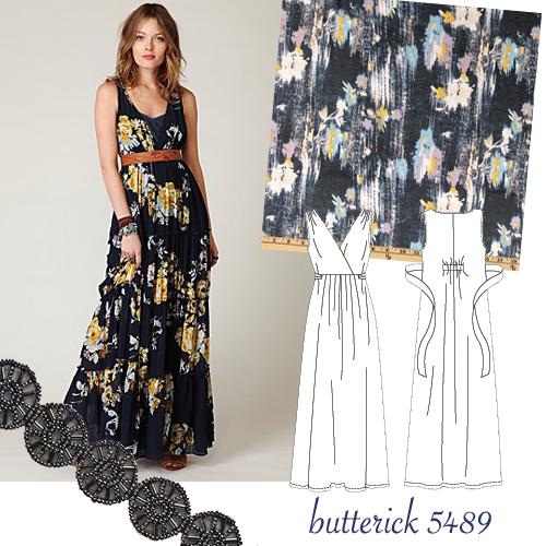Turmec » halter maxi dress sewing pattern free