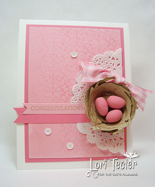Congratulations-designed by Lori Tecler-Inking Aloud-stamps and dies from The Cat's Pajamas